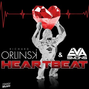 Richard-Orlinski-sculpture musique Heartbeat single sculpteur pochette